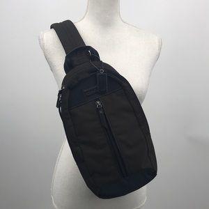 Coach leather nylon crossbody backpack NWT*